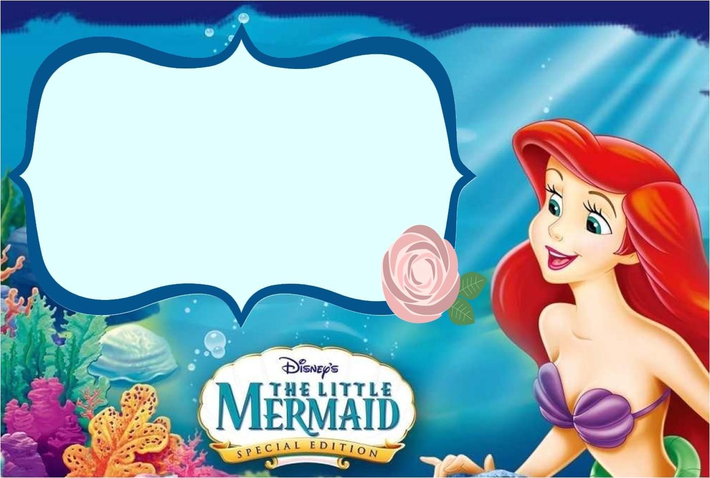 the little mermaid invitation template