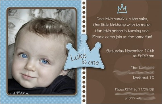 baby boy 1st birthday invitation little