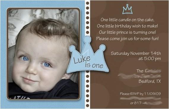 baby boy 1st birthday invitation little