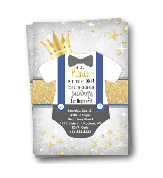 prince birthday invitation royal prince first