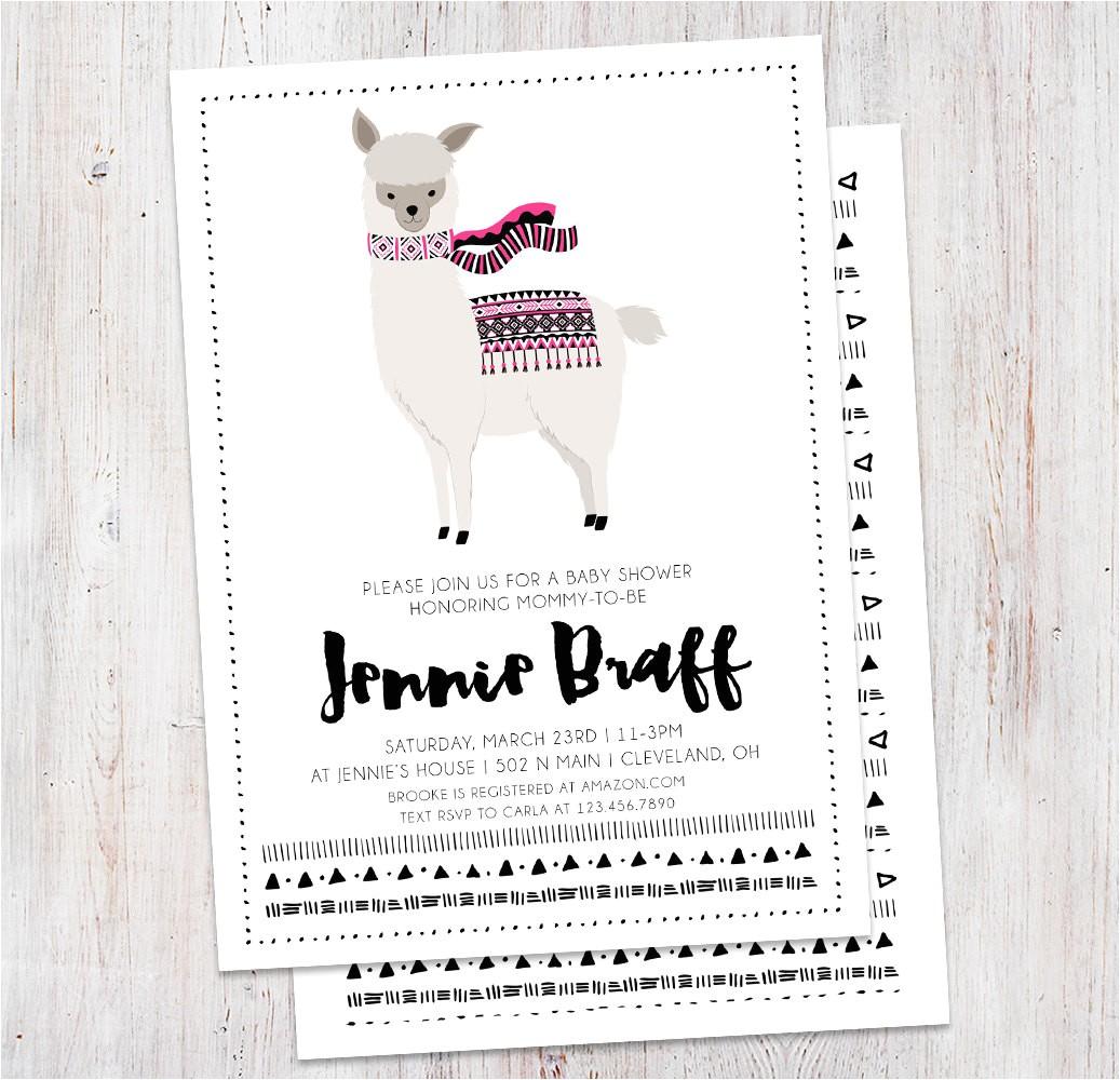 baby shower invitation llama shower utm source=Pinterest&utm medium=PageTools&utm campaign=