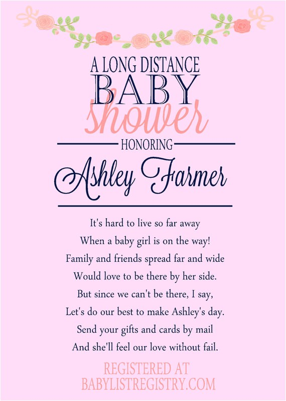 a long distance baby shower invitation