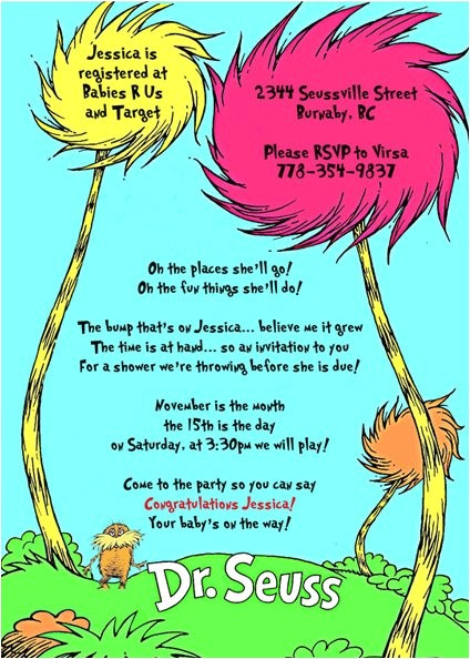 dr seuss lorax and tree baby