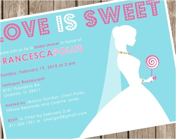 bridal shower invitations love is sweet