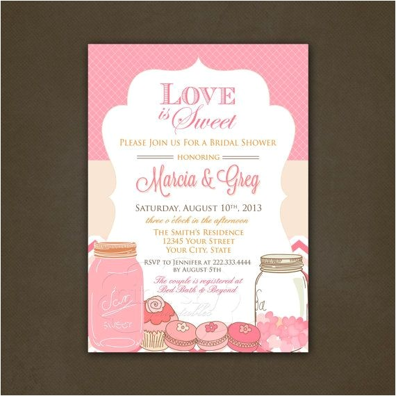 Love is Sweet Bridal Shower Invitation Wording Bridal Shower Invitations Bridal Shower Invitations Love
