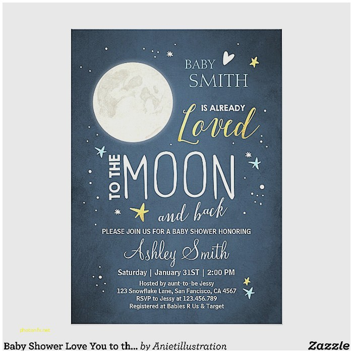 love you to the moon and back baby shower invitations