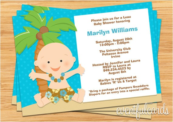luau baby shower invitation 2
