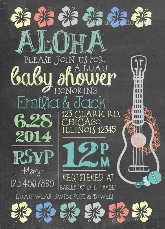 Luau themed Baby Shower Invitations Luau Baby Shower Invitation Diy or Professionally