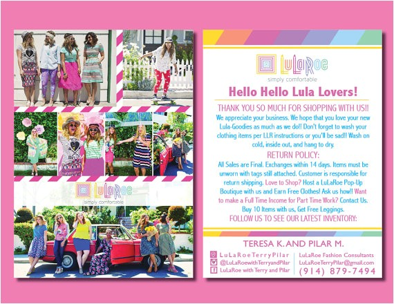 lularoe blitz card lula roe marketing