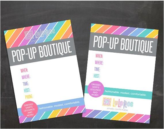 lularoe pop up boutique party invitation