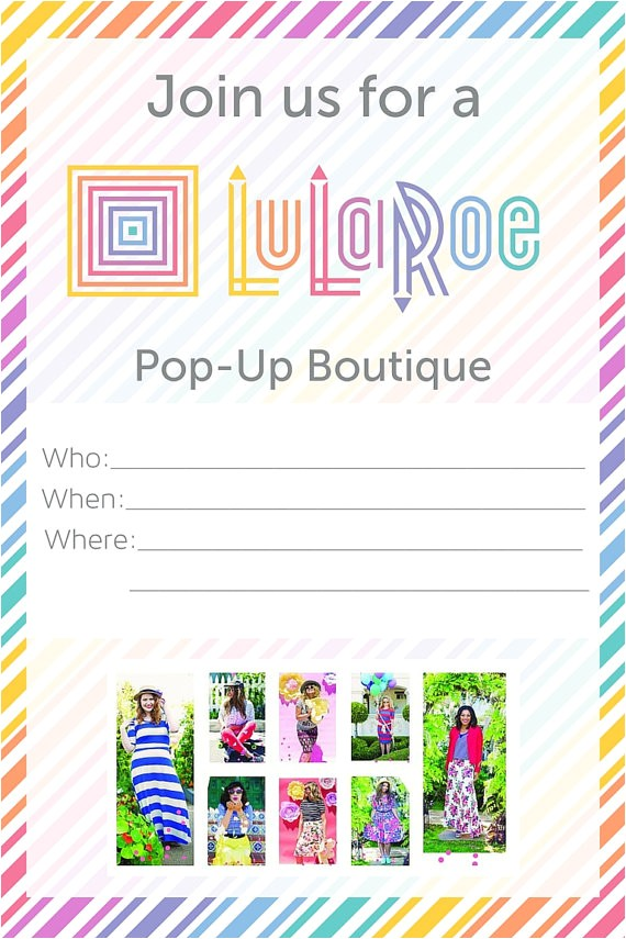 lularoe pop up invitations