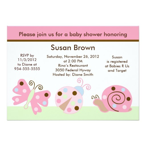 ladybug lullaby butterfly baby shower invitation
