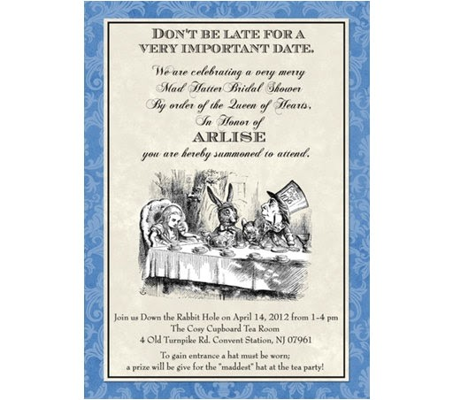 free printable mad hatter bridal shower