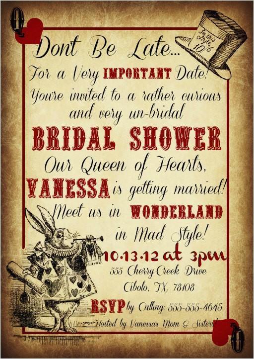free printable mad hatter bridal shower
