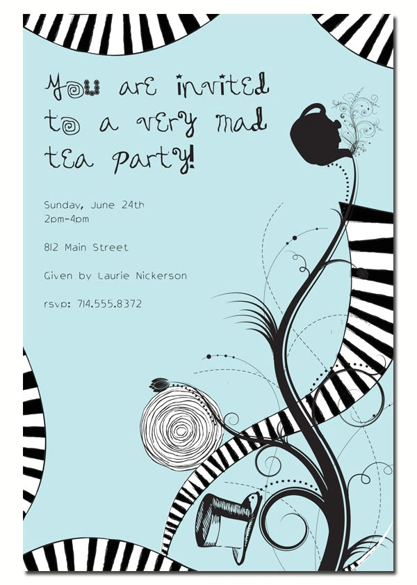 free printable invitations alice in wonderland party