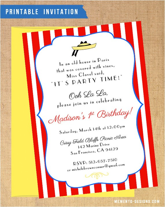 madeline birthdayshower invitation