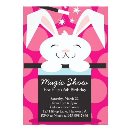magic show birthday party invitations 161681148719388149
