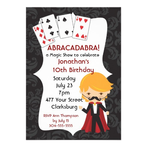 magic show invite 161202937738727056