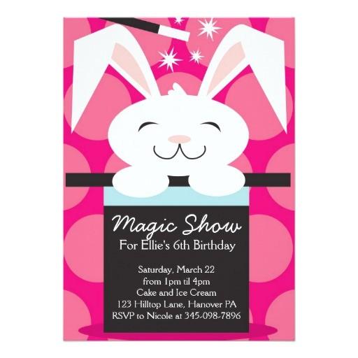 magic show birthday party invitations 161681148719388149