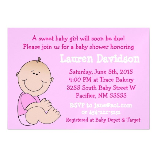 baby girl pink baby shower magnetic invitation