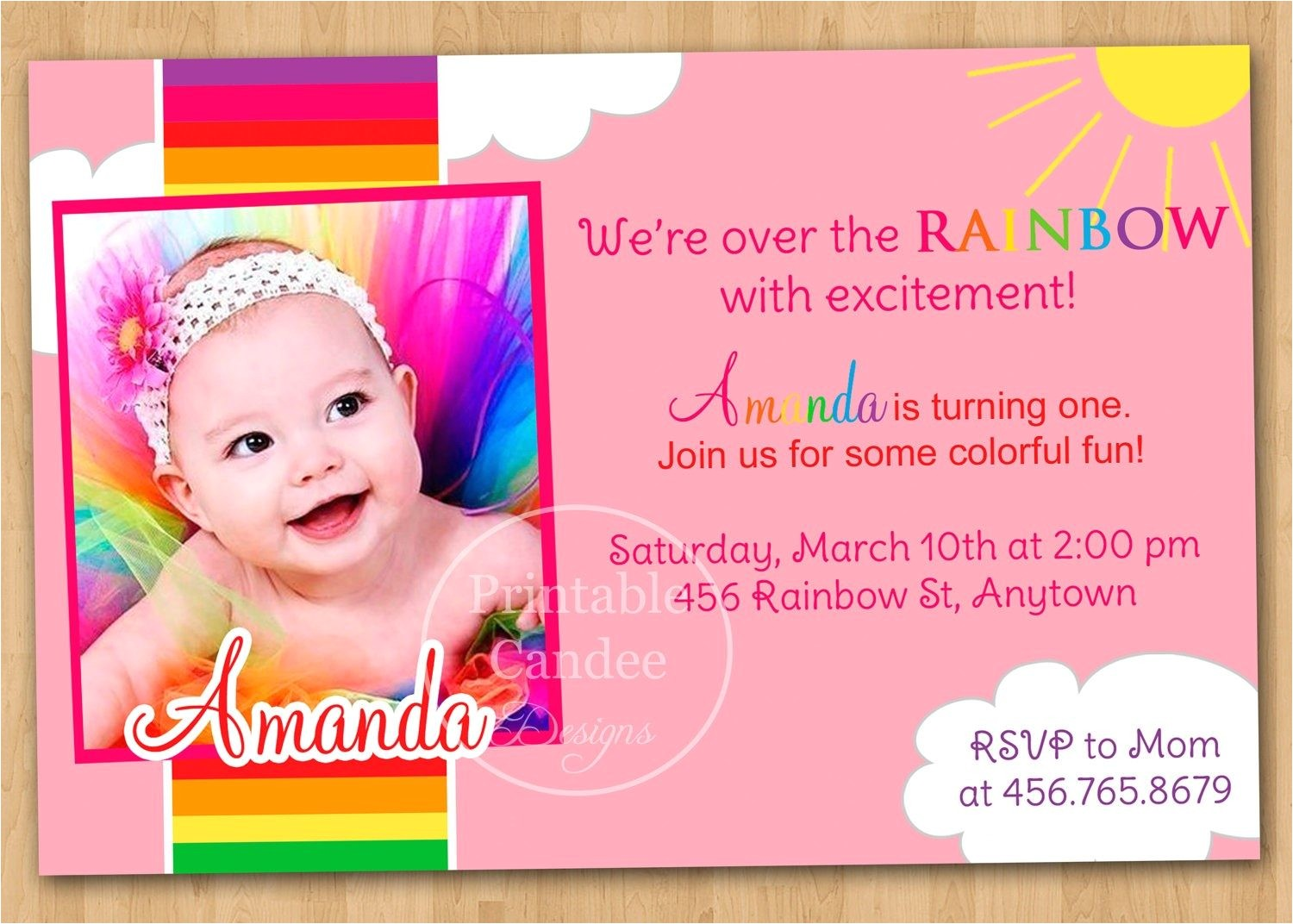 1st birthday invitation cards templates free