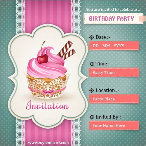 birthday party invitation card