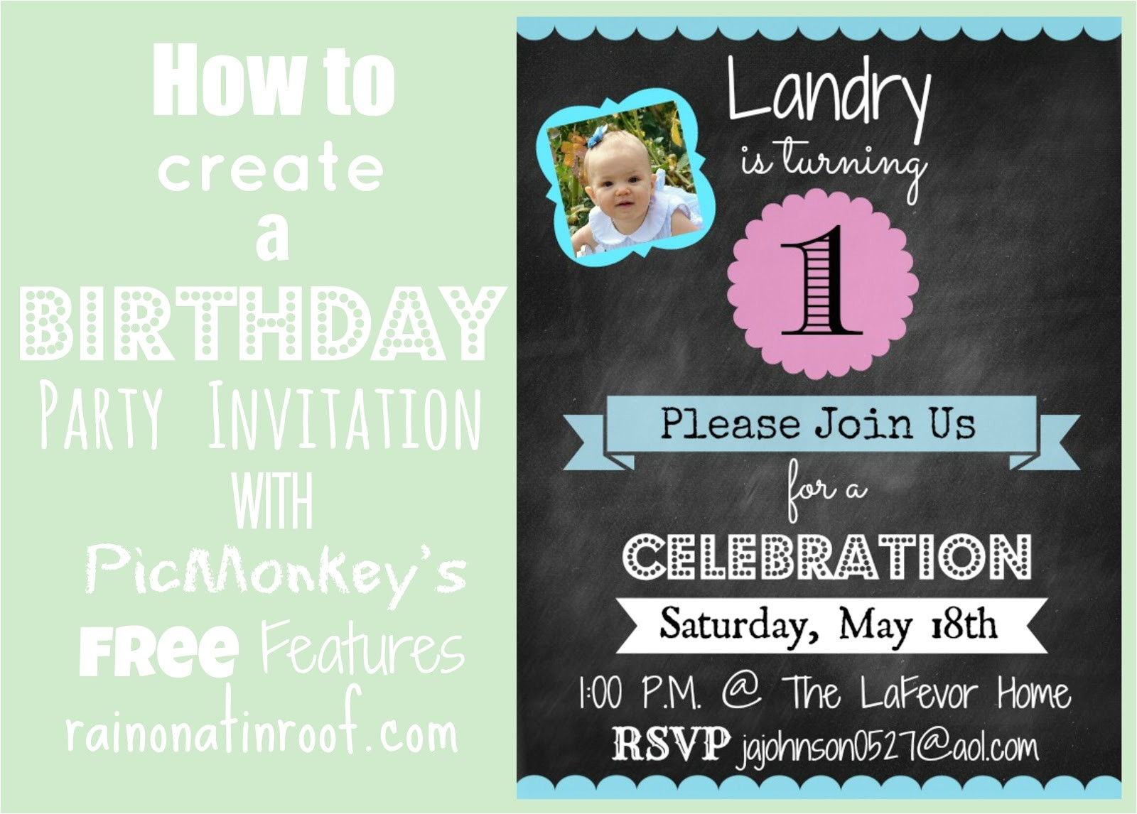 how to create invitation in picmonkey