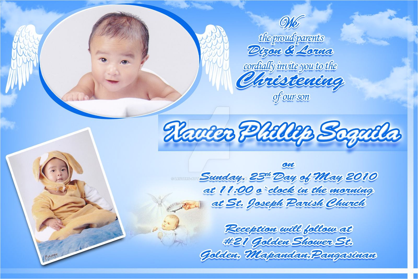 christening invitation card making