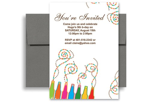 word template create your own printable birthday invitation KID 1042