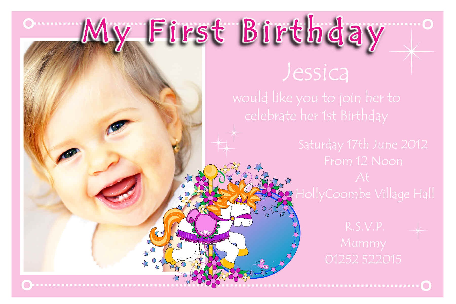 1st birthday party invitations