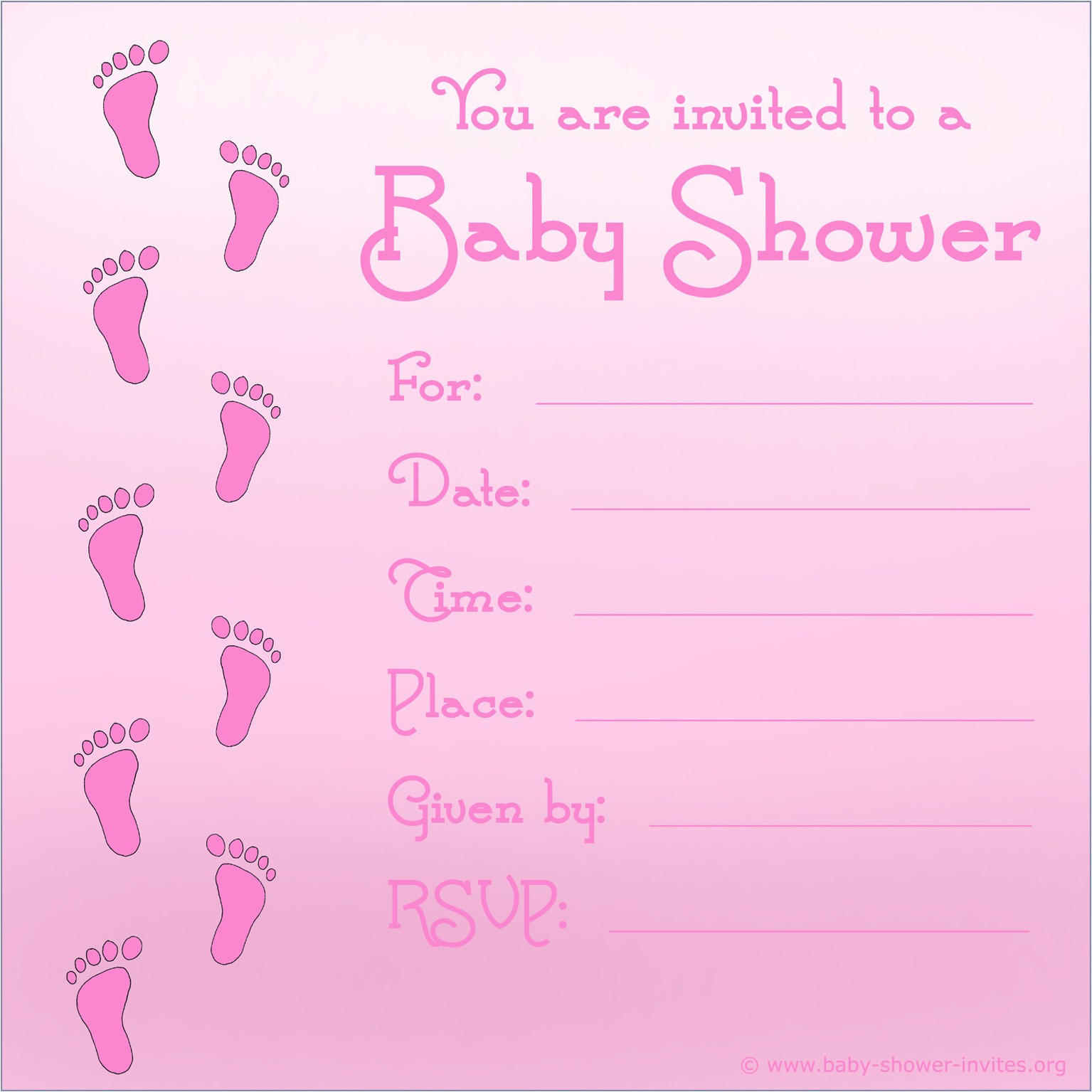 free printable baby shower invitations for girls