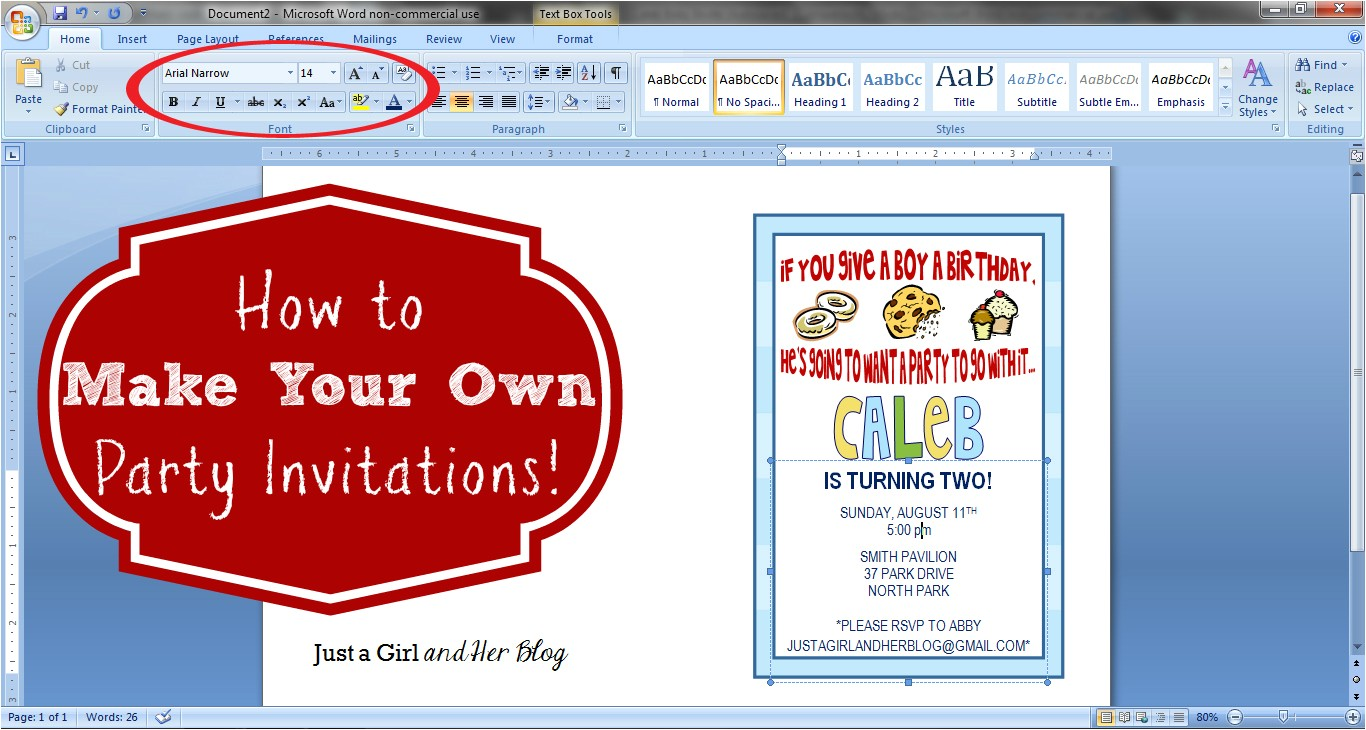 how to make your own party invitations free