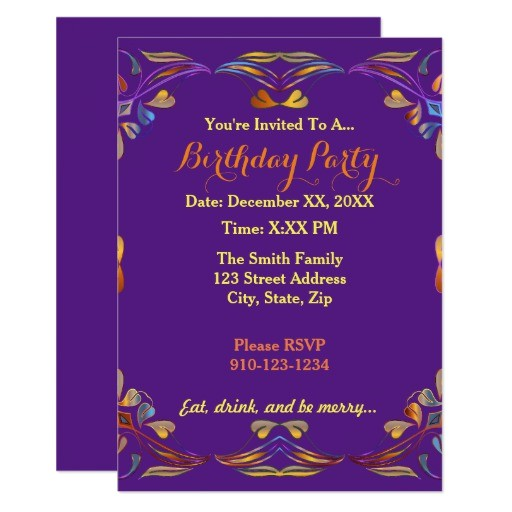 create your own colorful birthday party invitation 256039772911802949