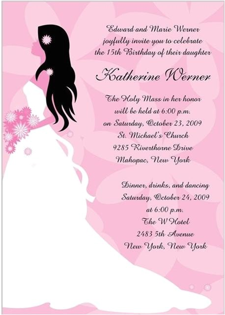 quinceanera invitations wording in spanish