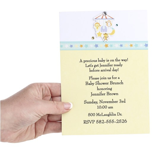new 649 baby shower invitation make