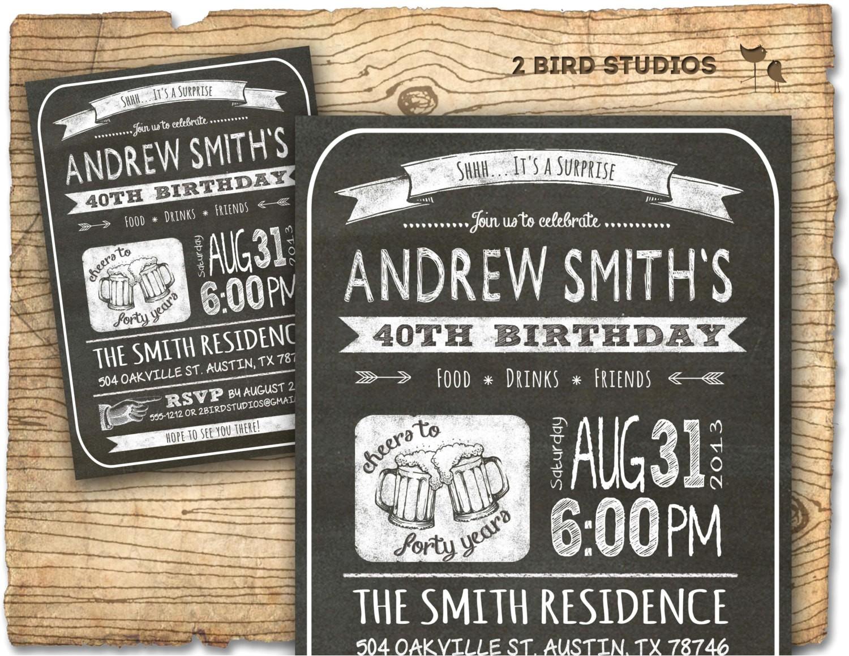 30th birthday invitation male birthday