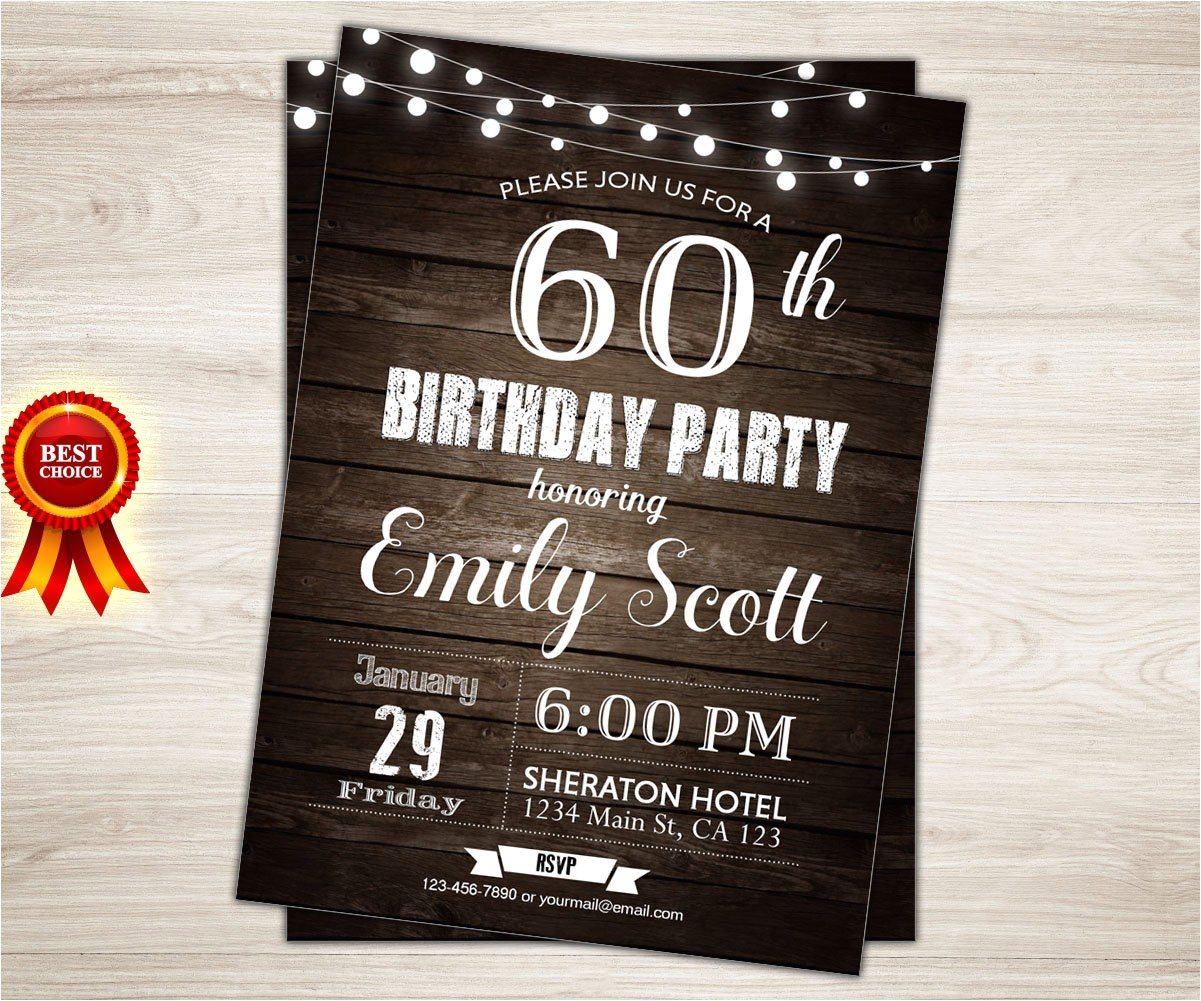 surprise 60th birthday invitation man