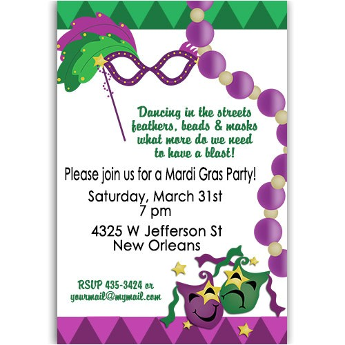 mardi gras party birthday baby shower