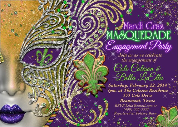 masquerade party masquerade invitation