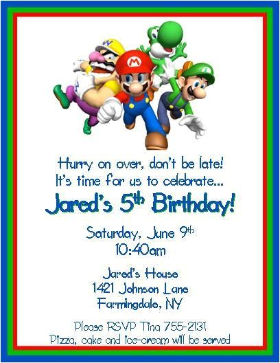super mario brothers personalized birthday invitations digital printable file diy lots of styles available