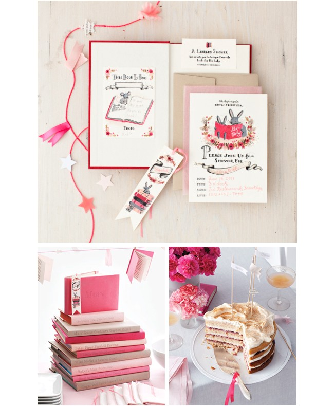 book themed invitations for martha stewart living