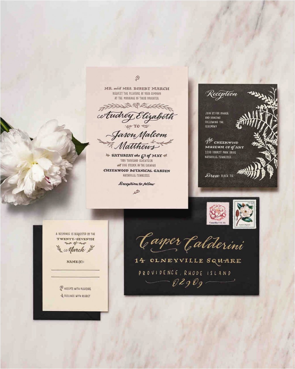 wedding invitation wording martha stewart