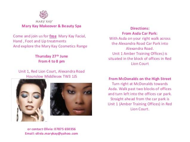Mary Kay Facial Party Invitations Mary Kay Invitation