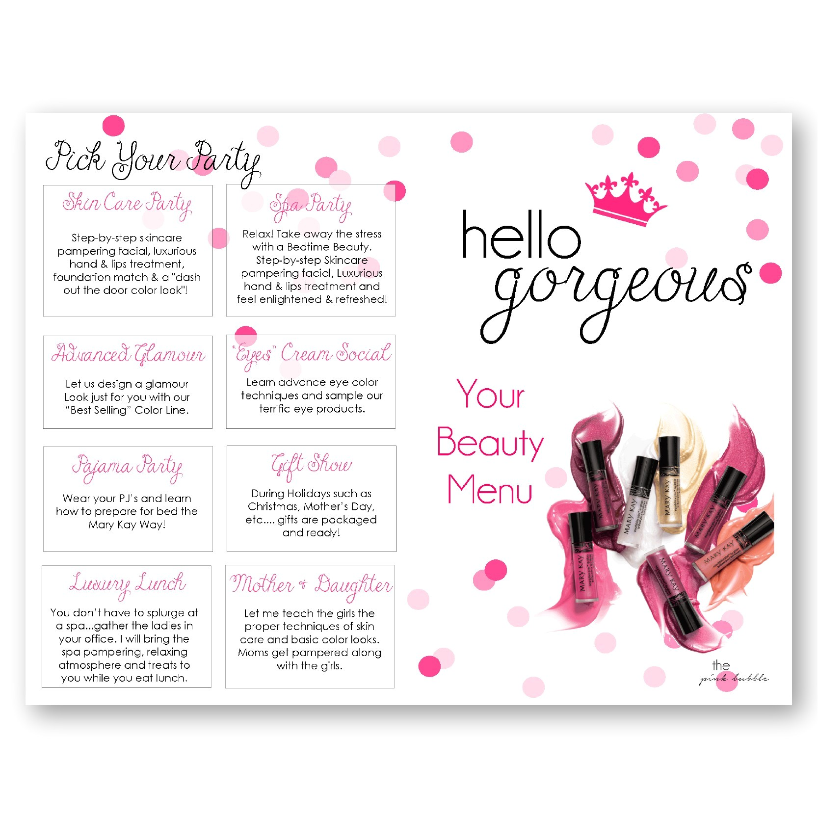mary kay invitation templates