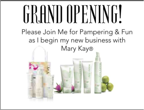 Mary Kay Launch Party Invitations Postcard Invitations for Mary Kay Business Launch