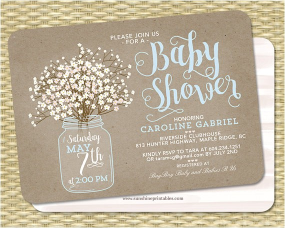 baby shower invitation baby boy mason