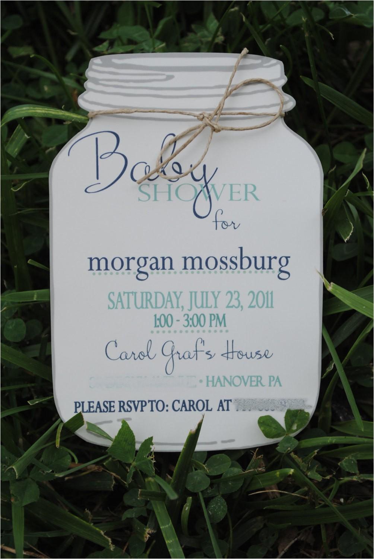 baby shower invitation mason jar