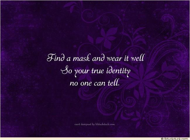 masquerade invitation wording verses