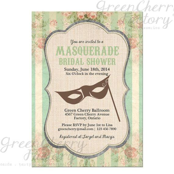 sister s masquerade bridal shower ideas