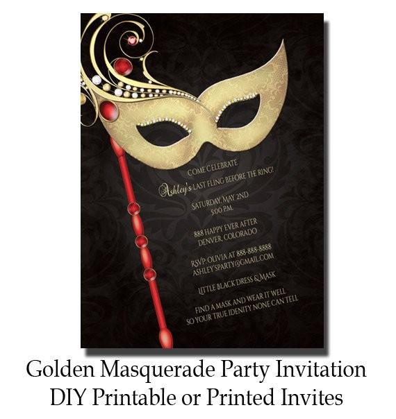 masquerade invitations free printable bridal shower